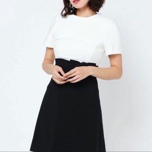 Kate Spade Black & White Bow Dress Size 10